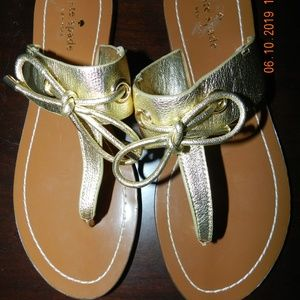 Women's Kate Spade Gold Thong Sandals